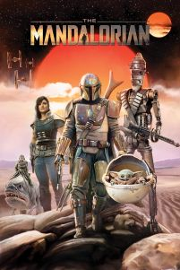 Star Wars The Mandalorian Group - plakat