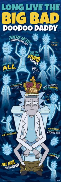 Rick And Morty Doodoo Daddy - plakat