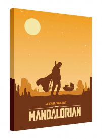 Star Wars: The Mandalorian Meeting - obraz na płótnie