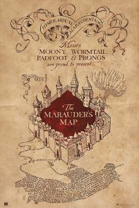 Harry Potter The Marauders Map - plakat