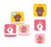 Line Friends - 3 lunchboxy