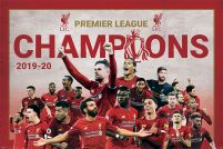 Liverpool FC Champions Montage - plakat