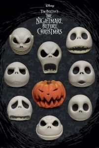 Nightmare Before Christmas Many Faces of Jack - plakat