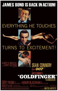 James Bond Goldfinger - plakat