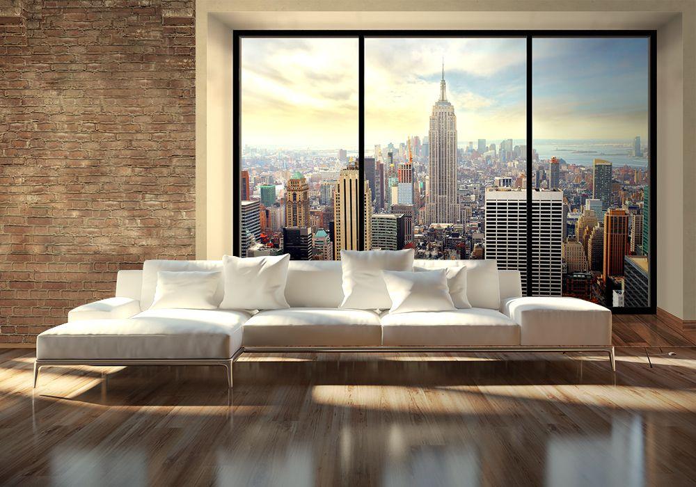 Manhattan New York Window Fototapeta Sklep Eplakaty Pl