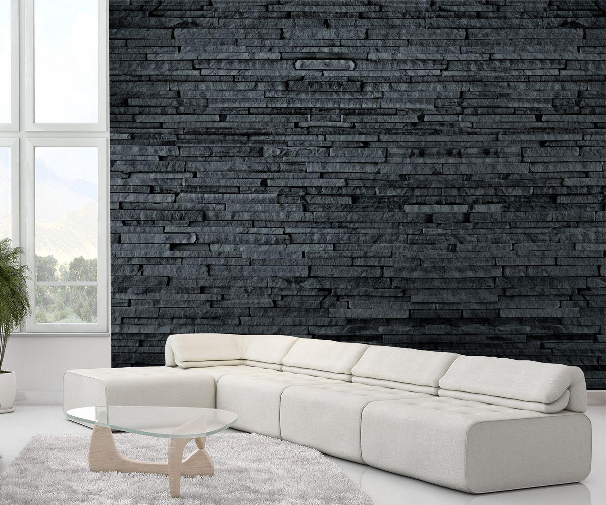 ciemny kamie ciana z kamienia fototapeta sklep. Black Bedroom Furniture Sets. Home Design Ideas