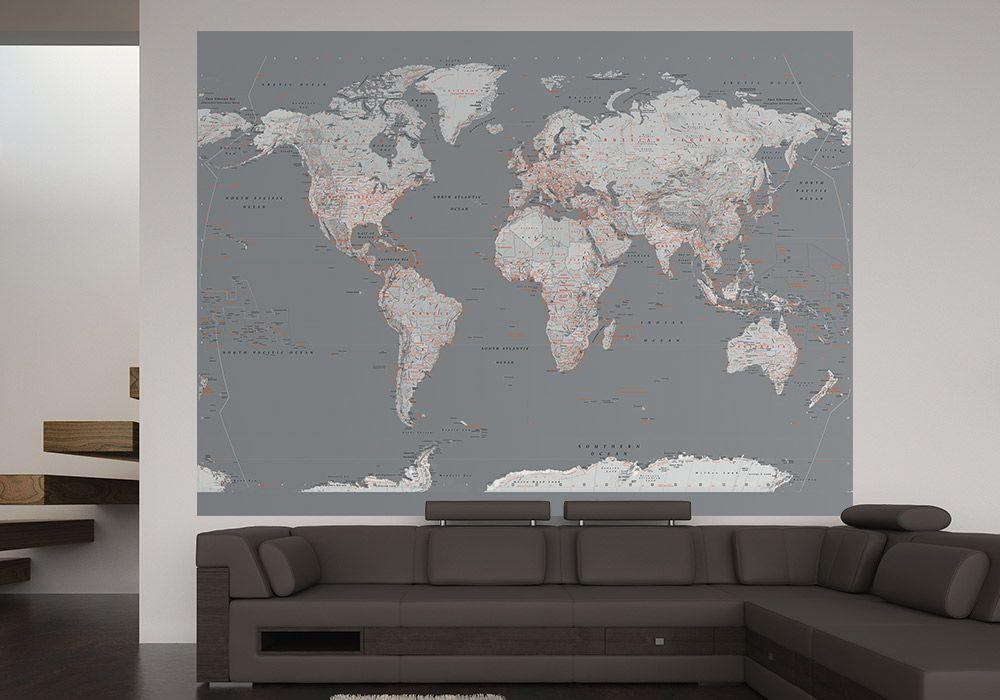 Fototapeta Mapa Swiata