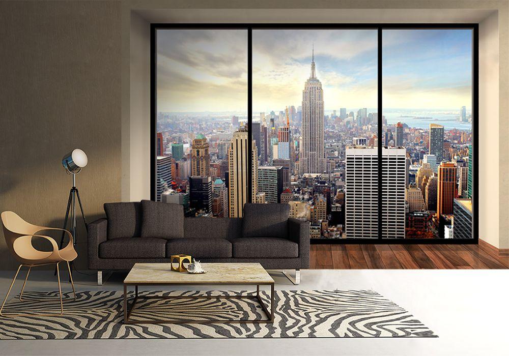 45965cd9 Manhattan, New York (window) - fototapeta