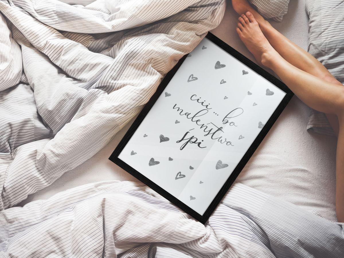 Plakat Cii bo Maleństwo Śpi