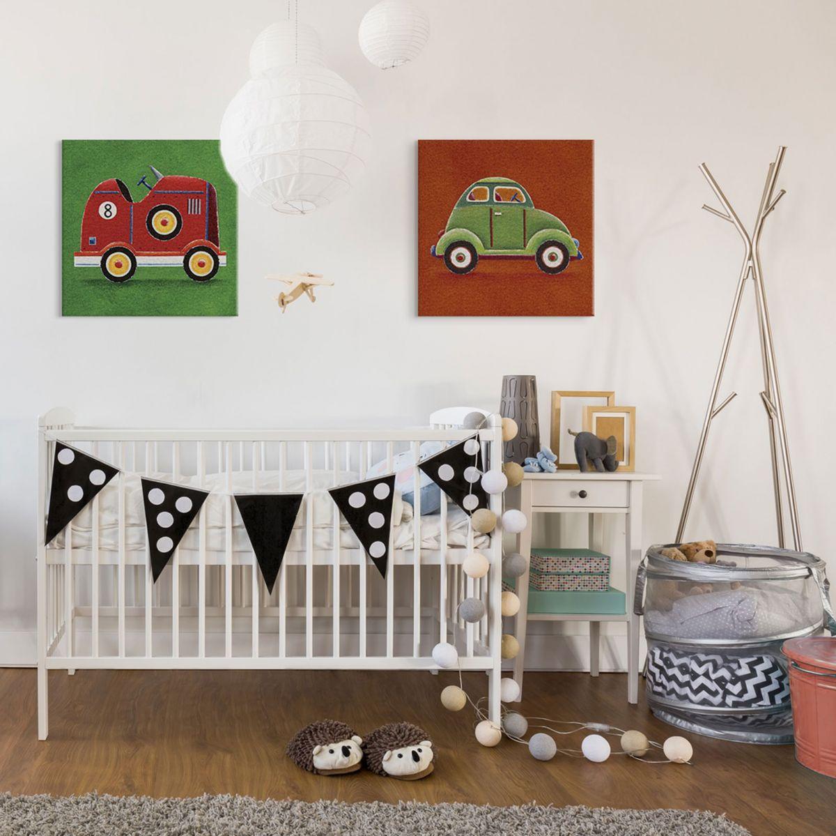Obraz do pokoju dziecięcego Green Car