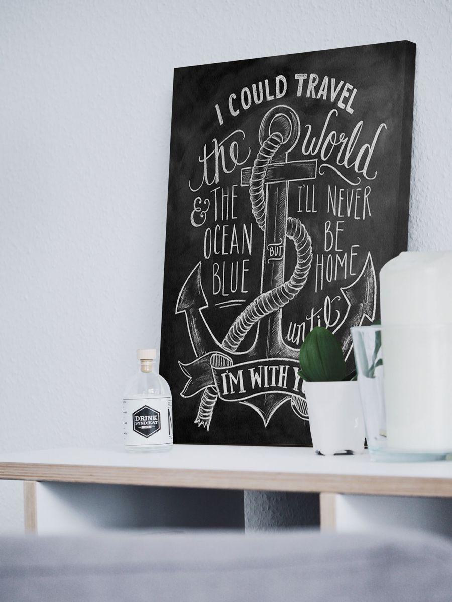 Obraz na płótnie Anchor z napisami