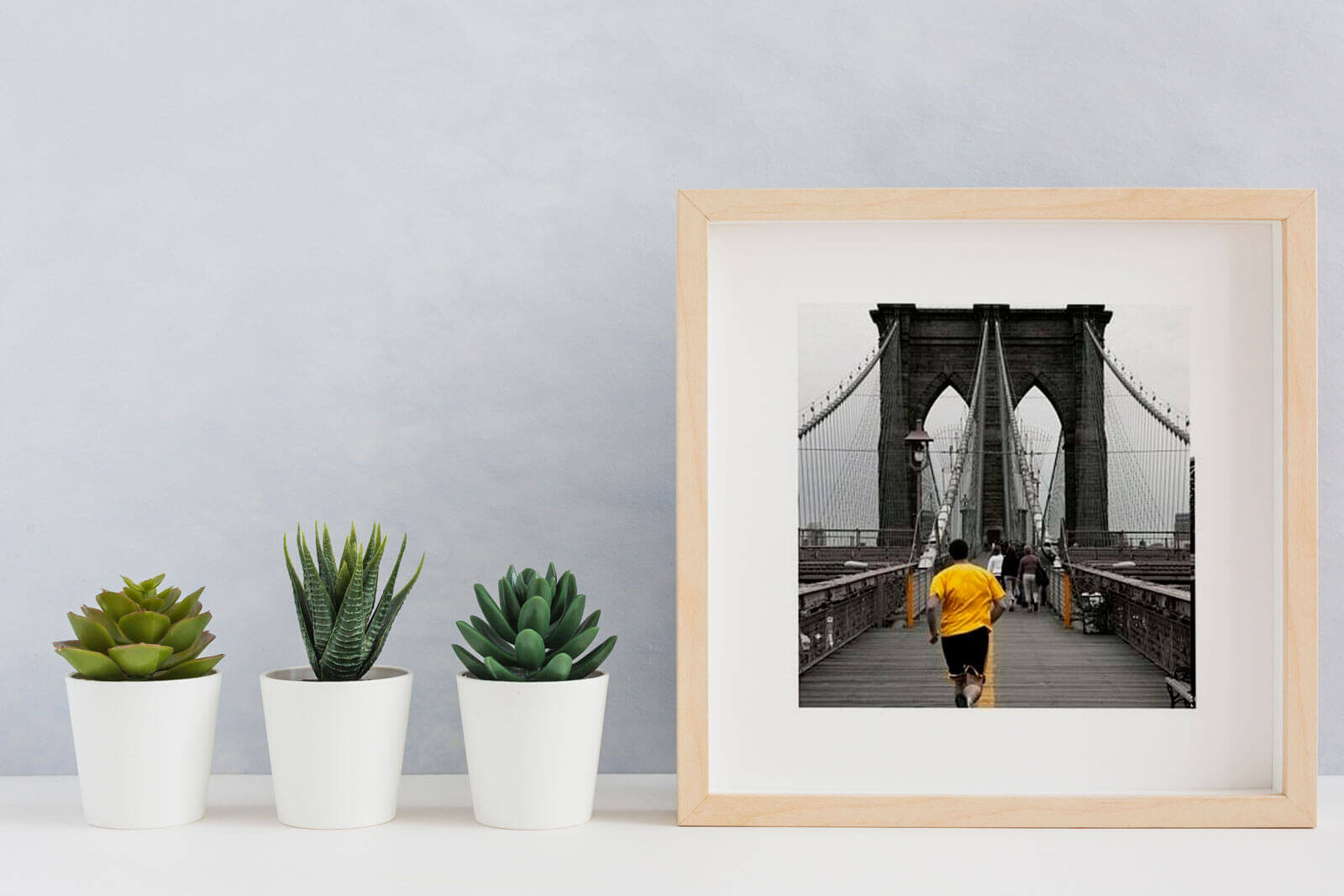 Reprodukcja Yellow on Brooklyn Bridge