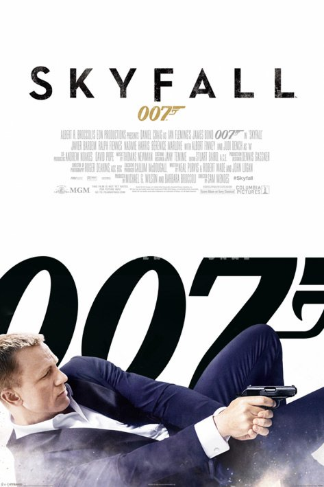plakat do filmu James Bond SKYFALL