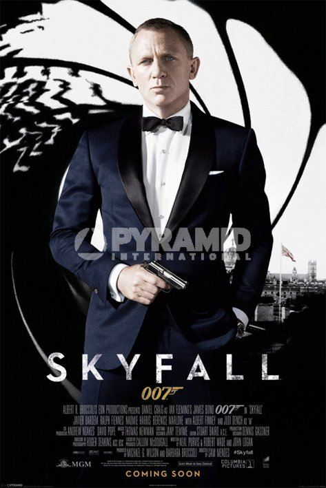 Plakat James Bond SkyFall