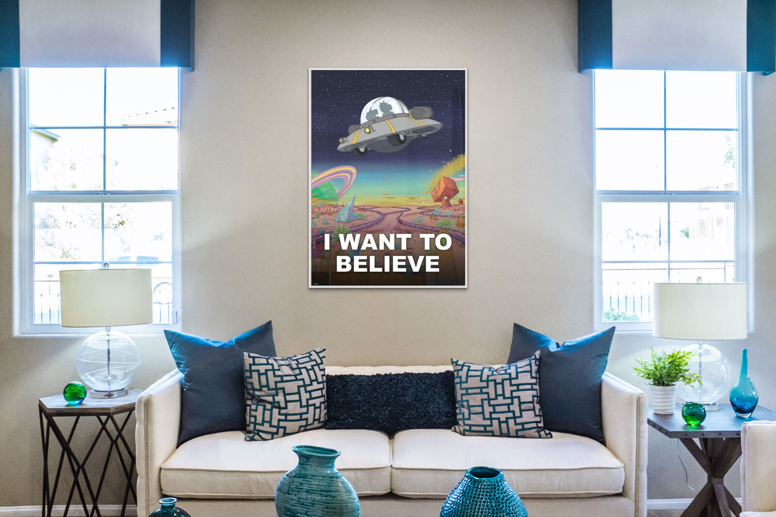 Plakat z serialu Rick and Morty I Want To Believe