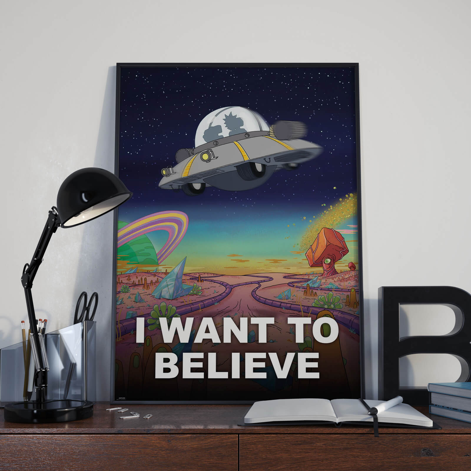 Plakat Rick and Morty I Want To Believe
