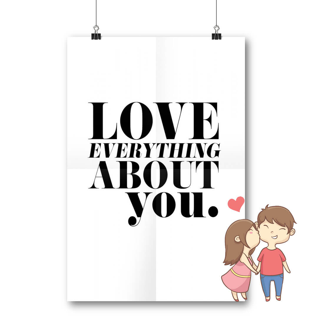 Plakat Love everything about You
