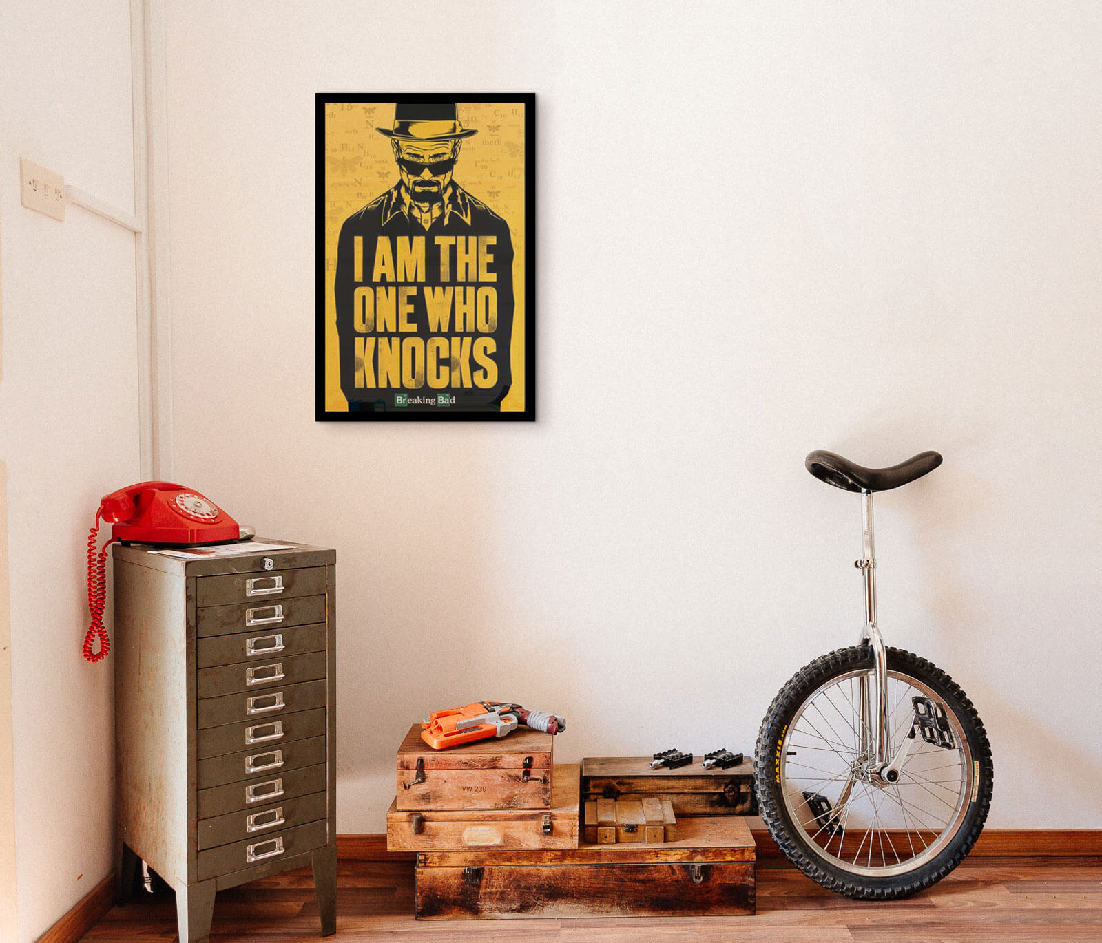 Plakat z serialu Breaking Bad z Walterem White
